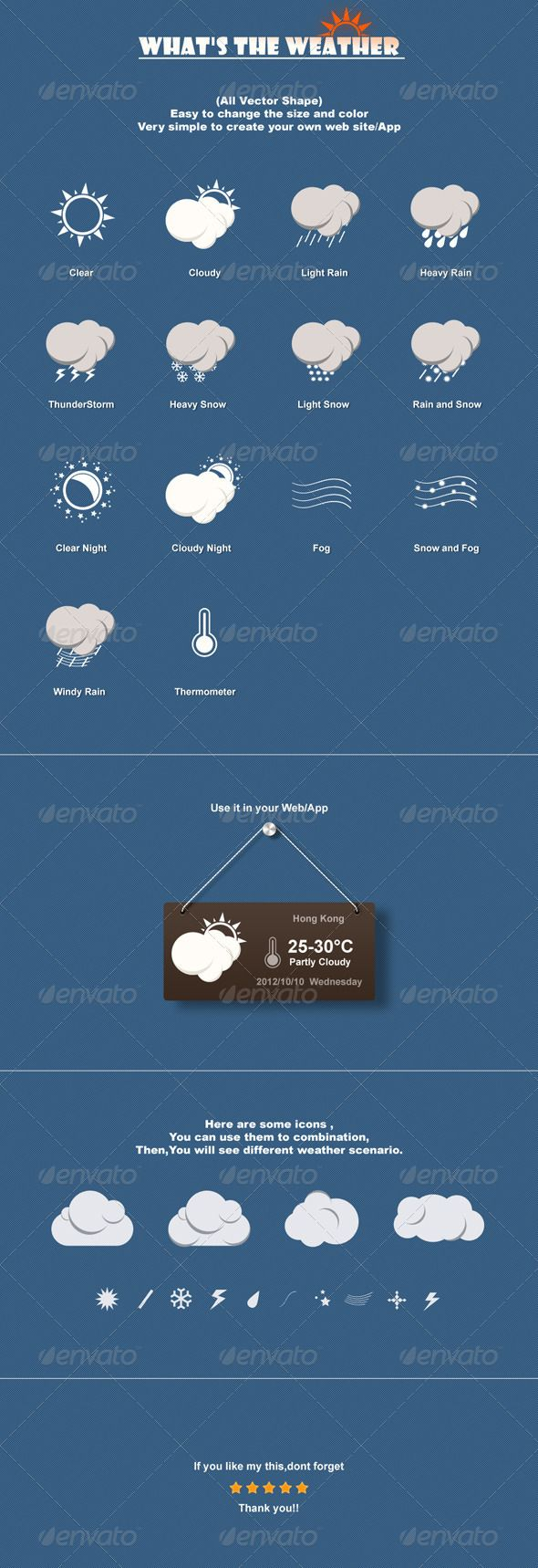 This File One psd file 14 weather commonly used iconNamed