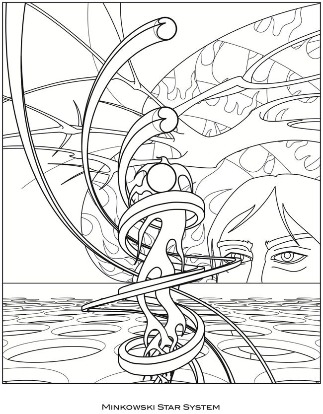 Coloring page from Surreal Visions: Dover Pub. Weekly