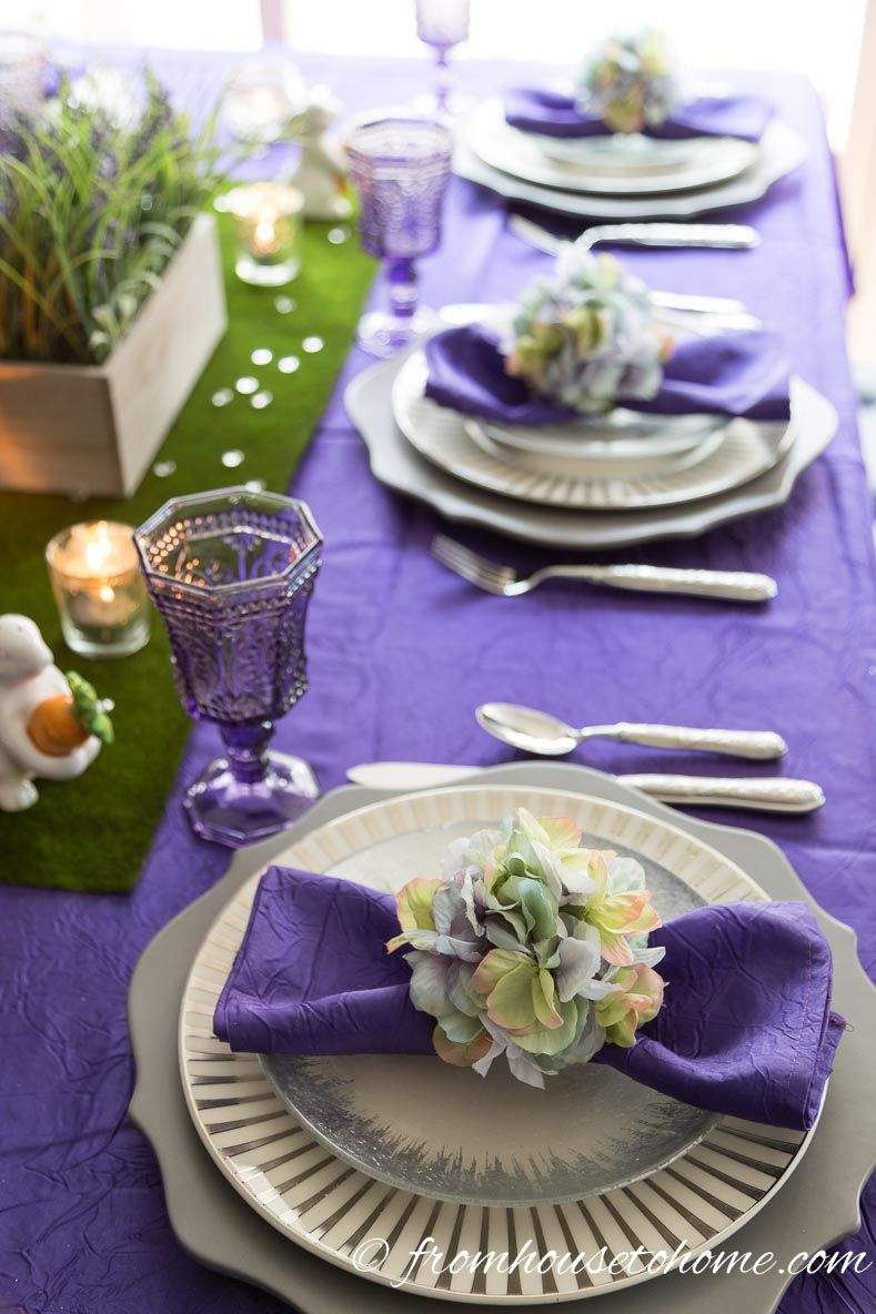The Easter table setting How To