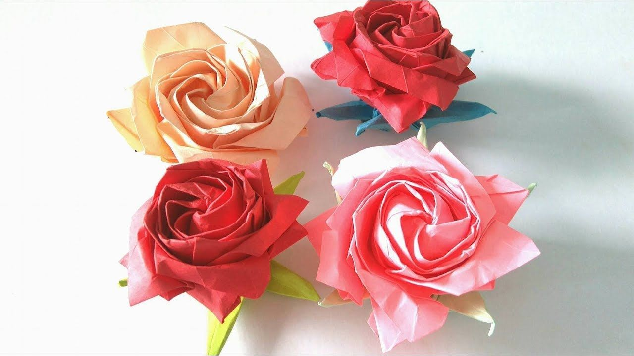 Origami Flower How To Make An Origami Pentagon Rose Step By Step