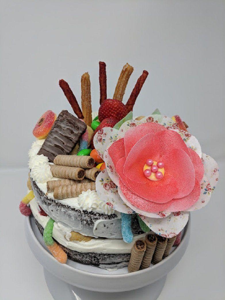 3D Edible Rice Paper Vintage Rose for Cake Decoration, 3D ...