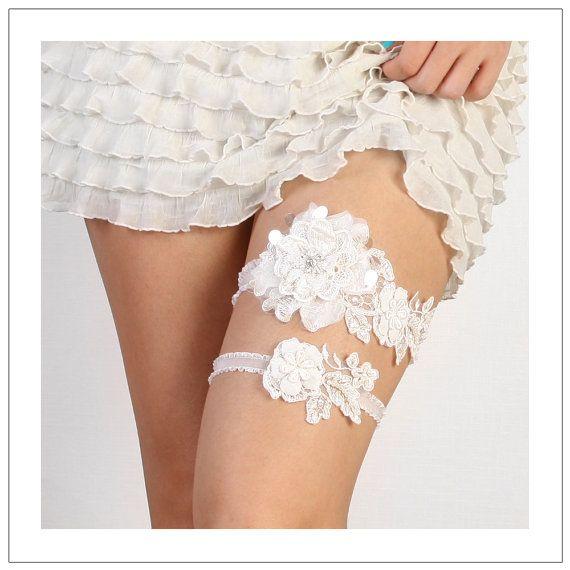 floral lace garter set Blossom lace garter set bridal garter set wedding garter set bride garters