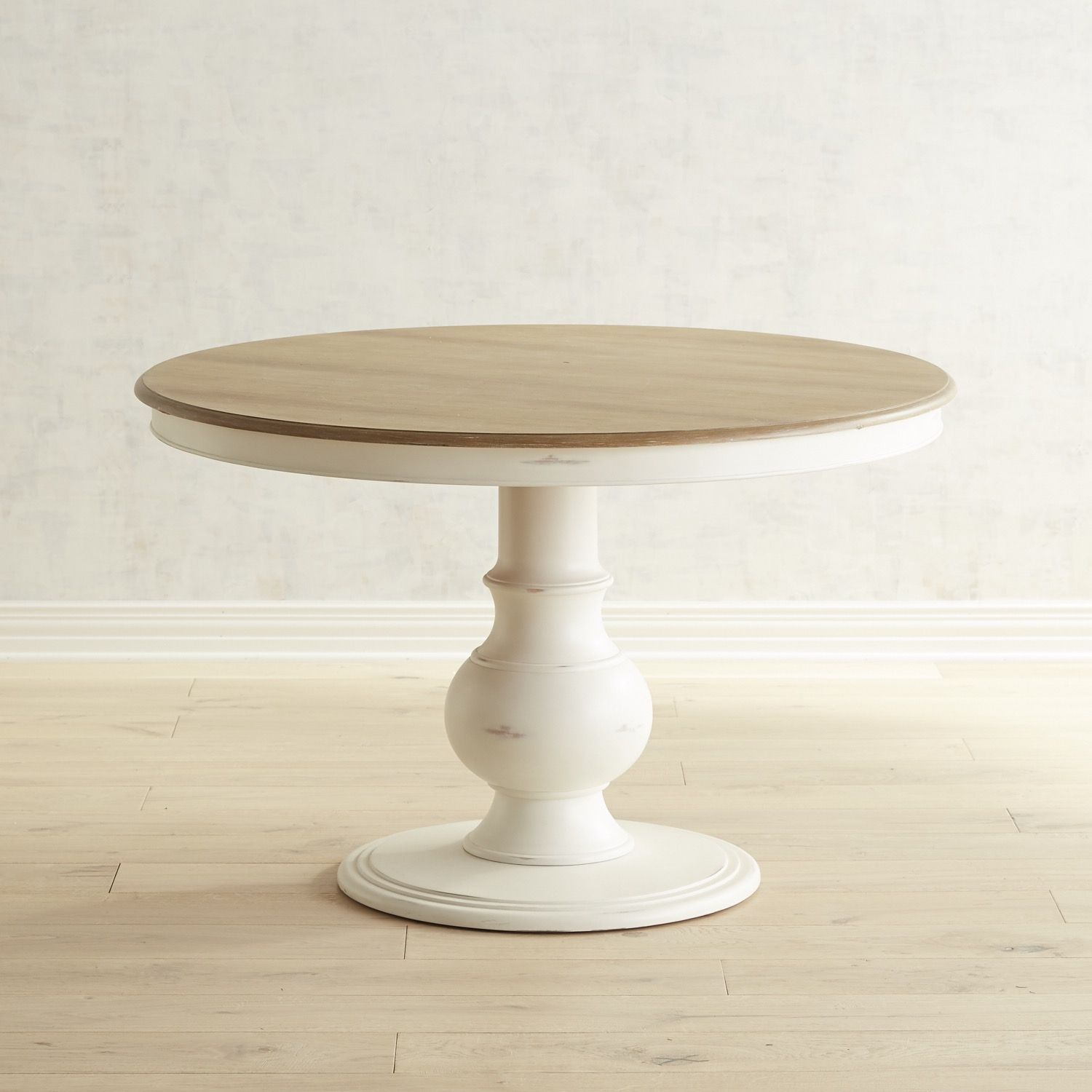 Chloe 42 Rain White Dining Table With Images Round Pedestal