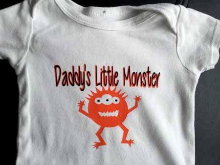 Quot Daddy S Little Monster Quot Onesie Using Black Amp Orange