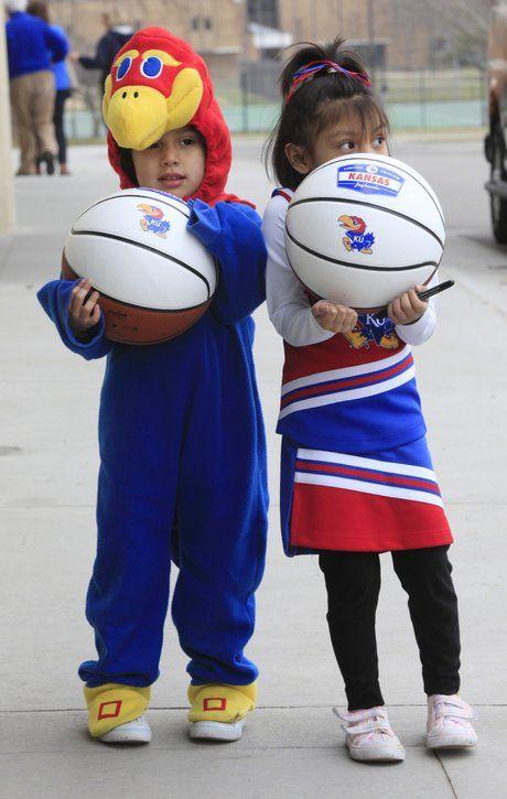 Kids in their KU Costumes