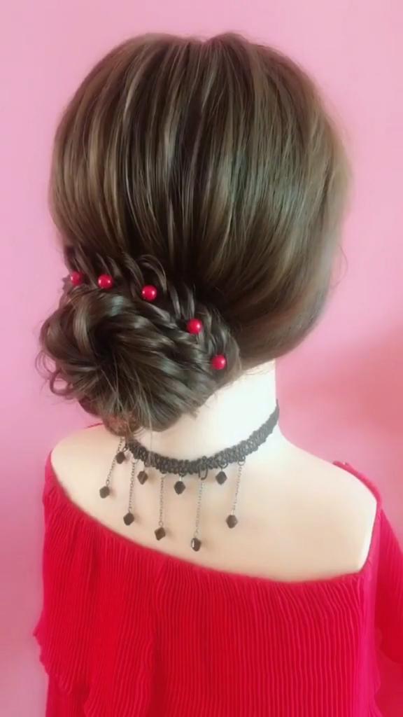 Hairstyle Tutorial 821 #curlyupdo