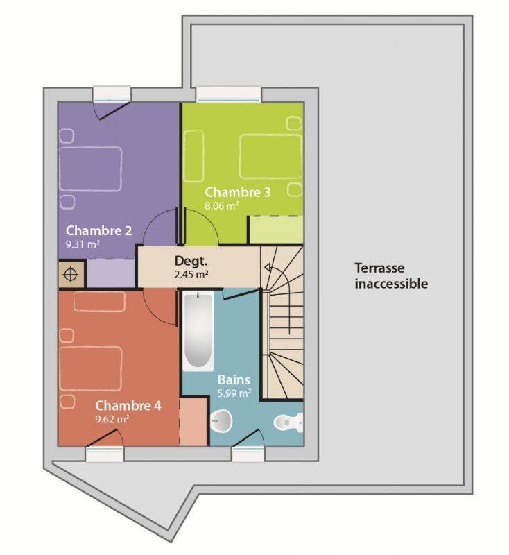 Plan achat maison neuve à construire - Maisons France Confort Eco-Concept 90G | plan maison ...