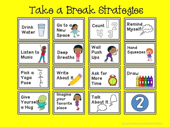 Elementary Classroom Management Techniques : Take a break spot for classroom management and self