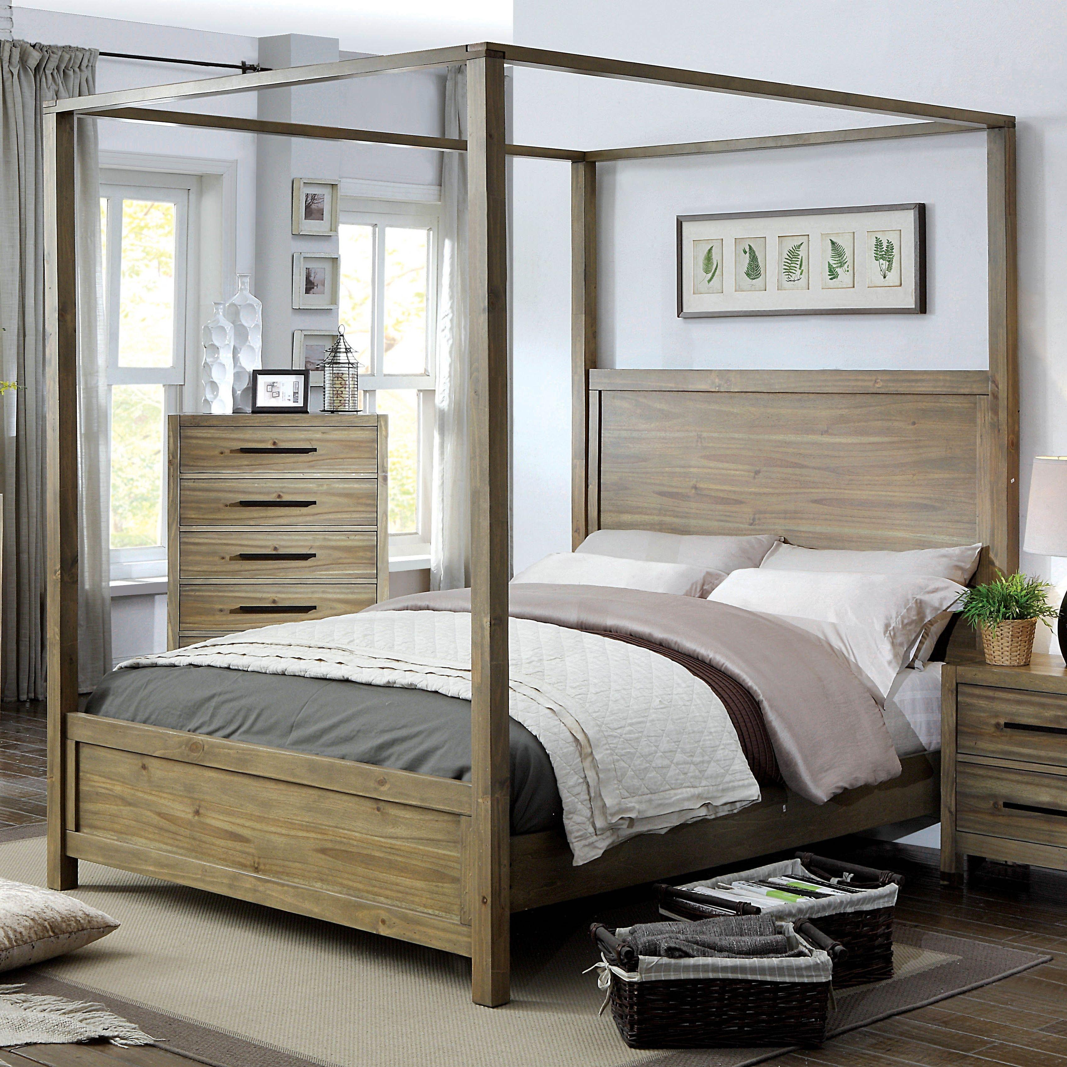 Furniture of America Holstead I Rustic Light Oak Wooden
