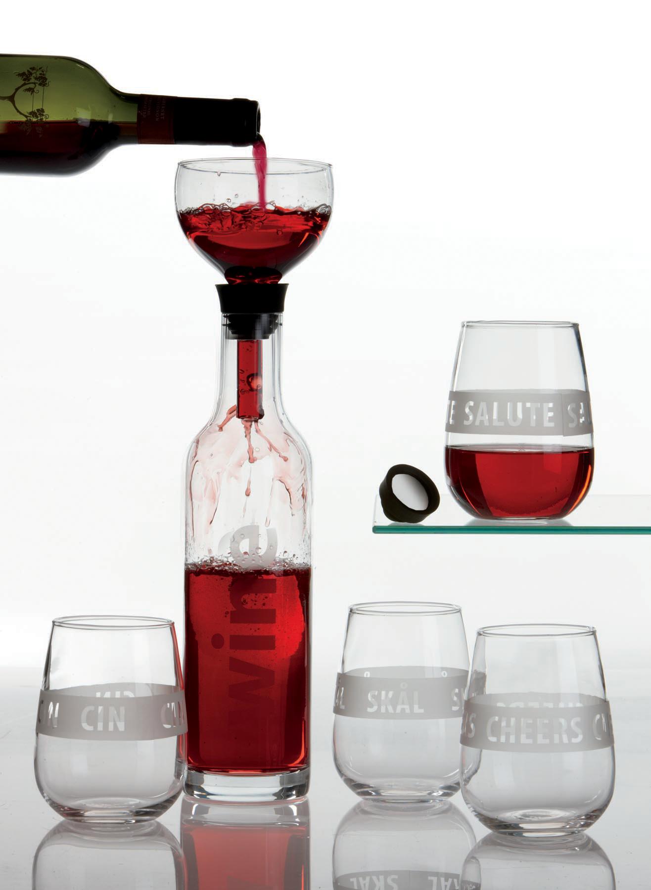 wine glasses and viva scandinavia wine decanter aerator. Black Bedroom Furniture Sets. Home Design Ideas