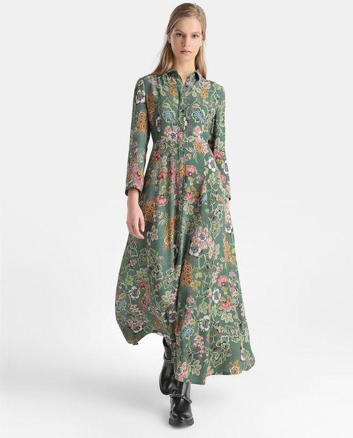 5a12b931f Vestido camisero de mujer Tintoretto de flores