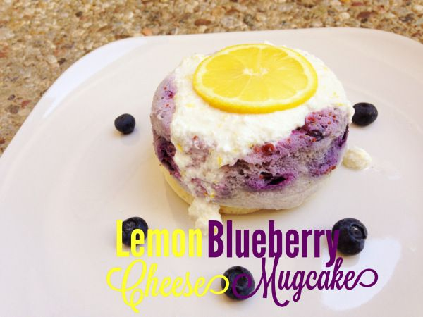 Lemon Blueberry Mugcake.  Fitfunandfantastic.com has amazing healthy recipes (:
