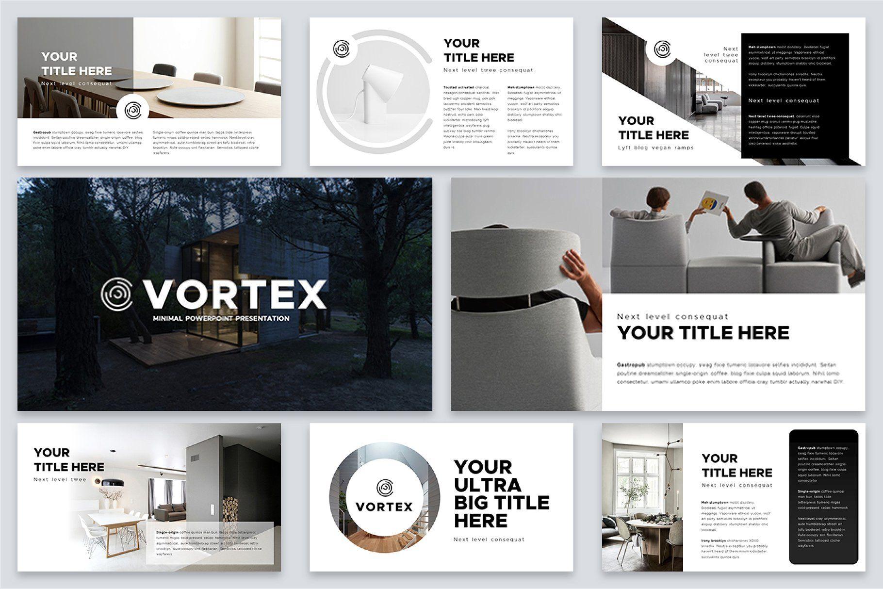 Vortex Minimal Powerpoint Template Powerpoint templates