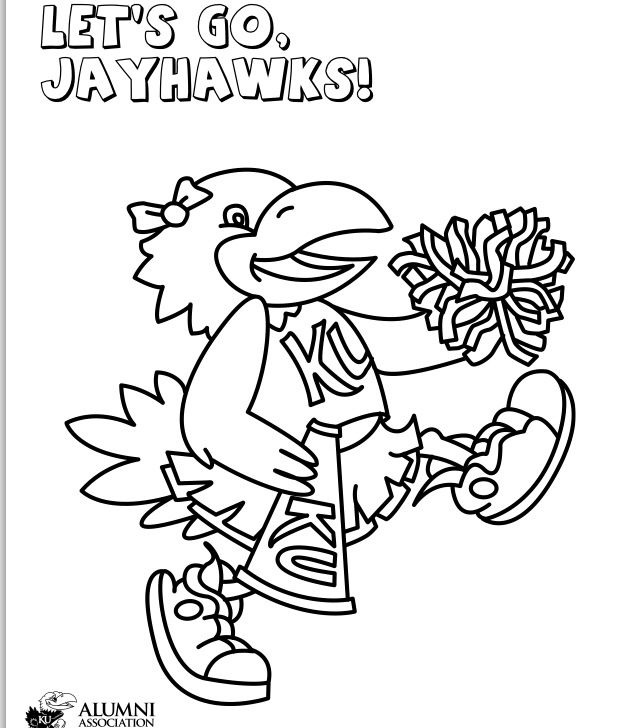 Cheers Jayhawks Coloring Sheets Color Kansas Jayhawks