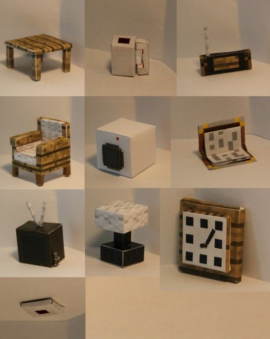 papercraft living room furniture 2 printables