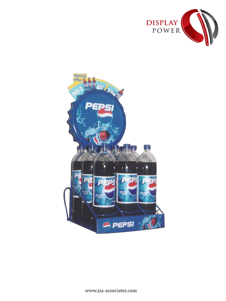 Pepsi Crown Shape Counter Top Rack Designed Produced By Display Power Pepsi Pepsi Cola Cola