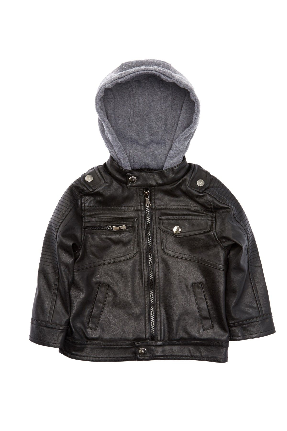 Urban Republic Faux Leather Moto Jacket (Baby Boys