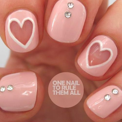 Best Valentine's Day Nails for 2018 - 44 Heartwarming Nail Designs | Designs  nail art, Nails games and Dance nails - Best Valentine's Day Nails For 2018 - 44 Heartwarming Nail Designs