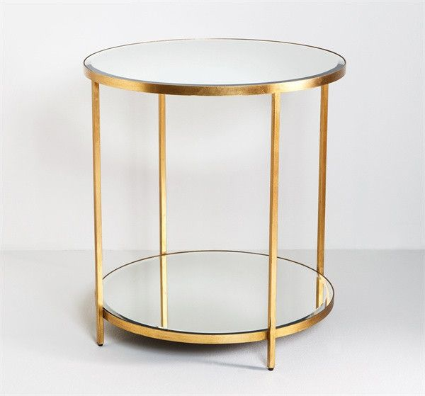Interlude Hayward Center Table Antique Mirrored Surfaces Deliver
