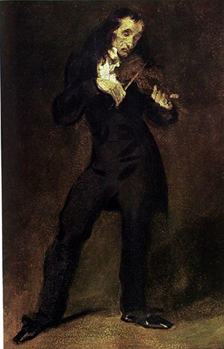 Eugène Delacroix, Portrait of Niccolò Paganini (1831) #art ...