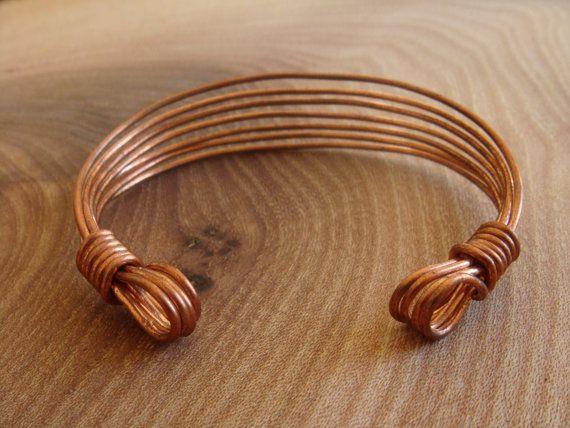 Copper Bracelet / Copper Bangle / Handmade Wire by DerekMcqueen