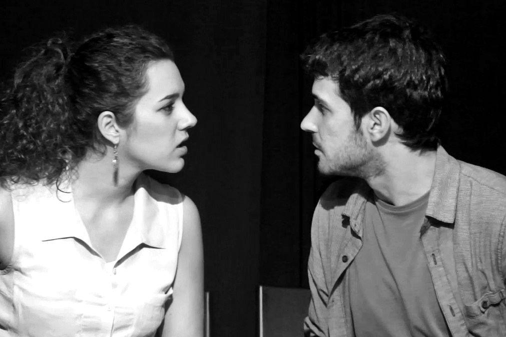 """Laura Peris y Raúl Lara en """"Un Atasco de Narices"""". Junio 2014. Sala La Infinito, Madrid."""