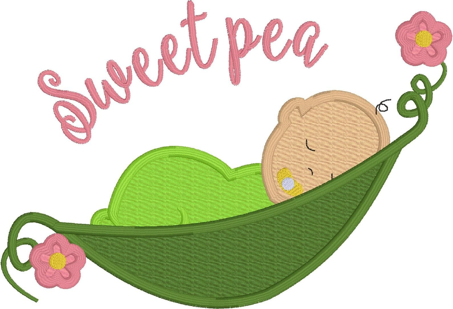 sweet pea stickdateien # 6
