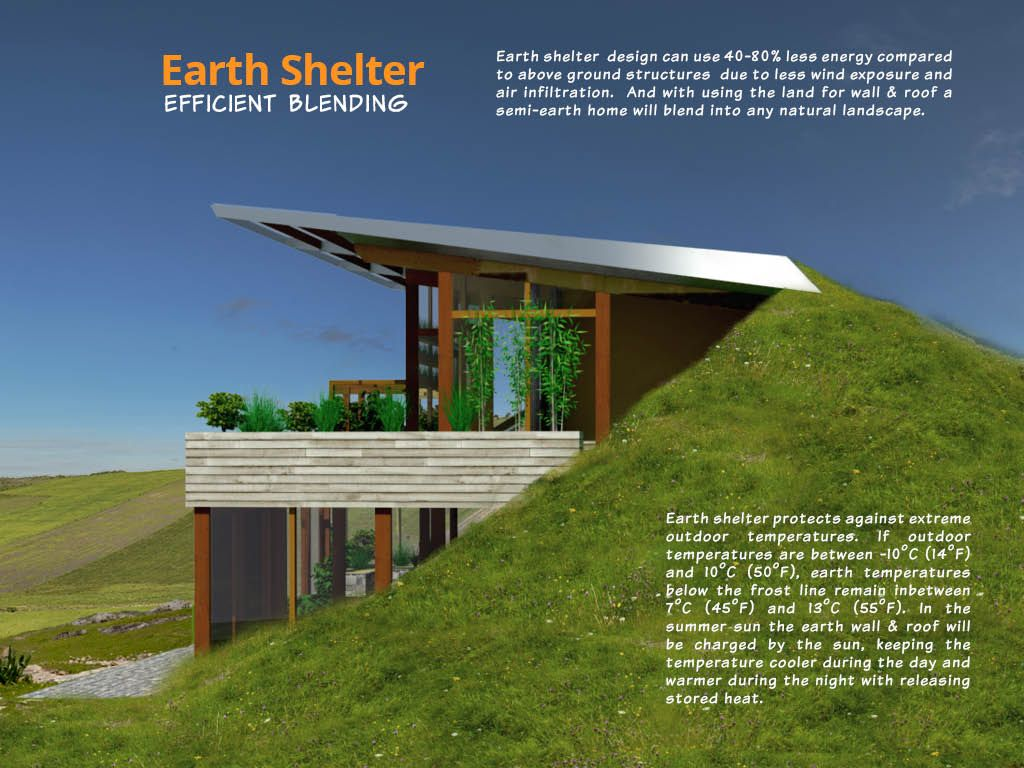 earth shelters designs