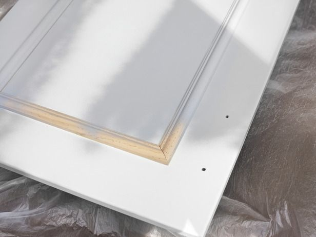 hgtv kitchens    add molding and new hardware to flat cabinet doors     streamlined kitchen cabinet makeover   moldings hardware and doors  rh   pinterest com