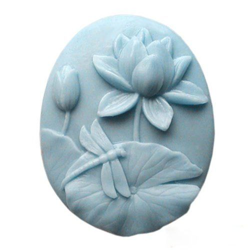 1 Piece Artistic Soap Mold Silicone Soap Mold Lotus Dragonfly 60*77*29mm * Visit the image link more details.