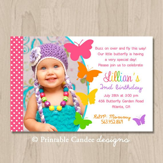 butterfly birthday invitation diy printable by printablecandee, Birthday invitations