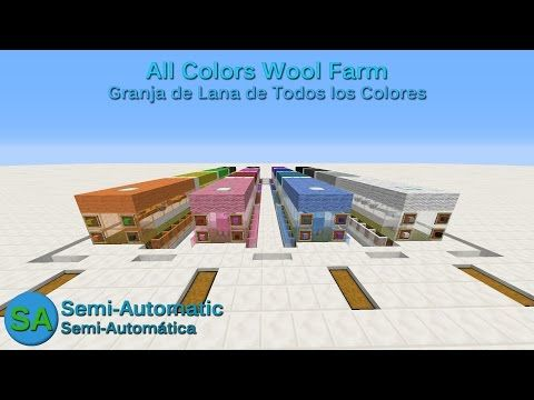 Tutorial Of A Minecraft Wool Farm For All The Colors With Automatic