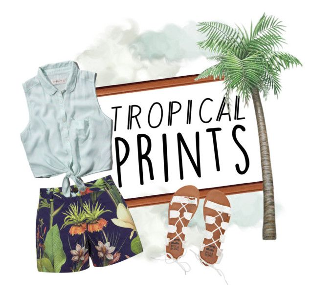 """""""Tropical Prints"""" by sky-cloud ❤ liked on Polyvore featuring Penfield, Abercrombie & Fitch, Billabong, tropicalprints and hottropics"""