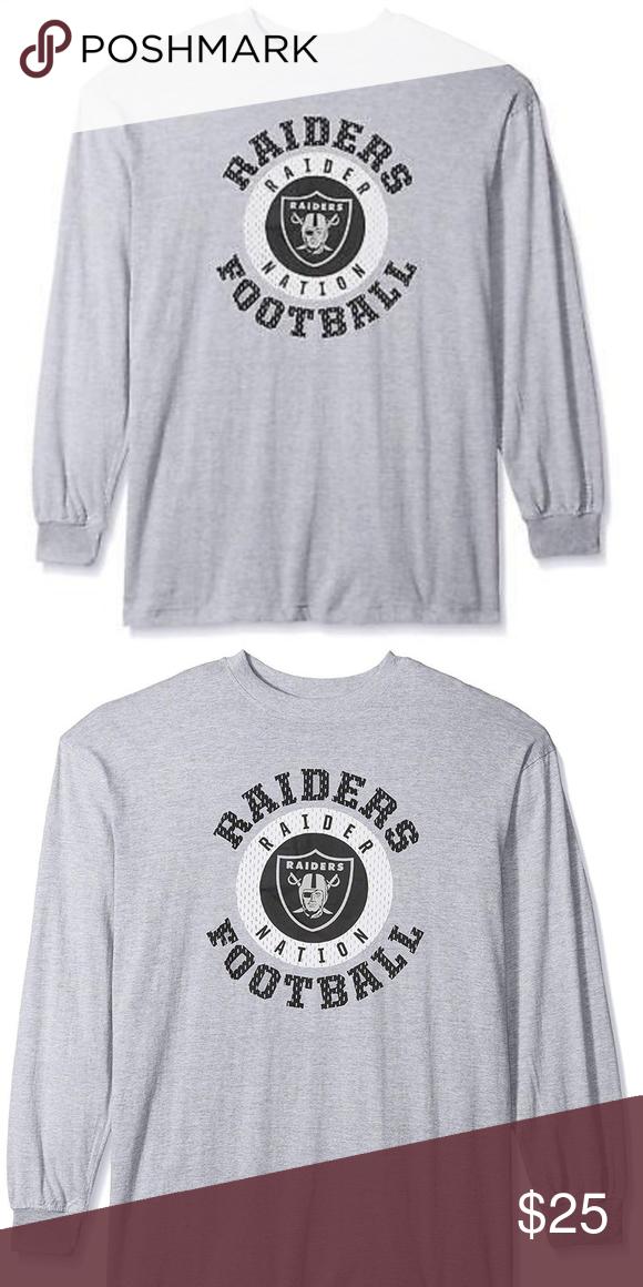 490fe8d6 Oakland Raiders Men's Gray Long Sleeve Graphic Tee Oakland Raiders ...