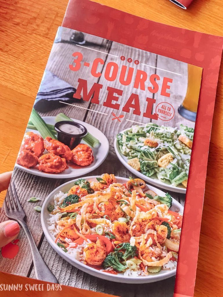 applebees Threecourse meal, Meals, 3 course meals