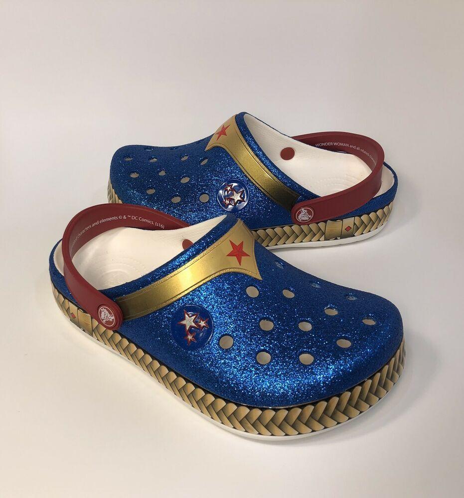eBay Sponsored Girls Crocs Wonder Woman Clogs Size 3 J3