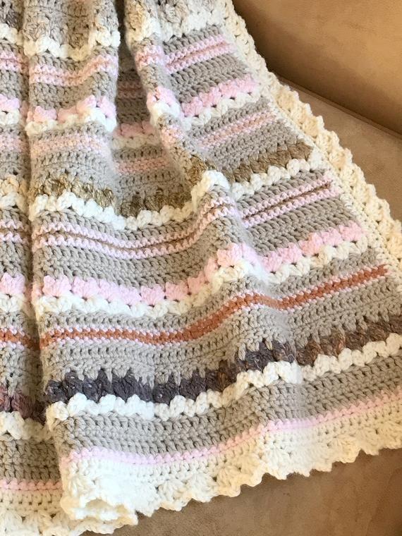 Crochet Baby Blanket Pattern Aspen Blanket Woodland