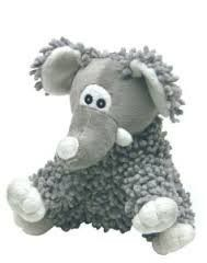 Vo Toys Xpet 5 Gray White Scruffie Nubbies Elephant Small Dog