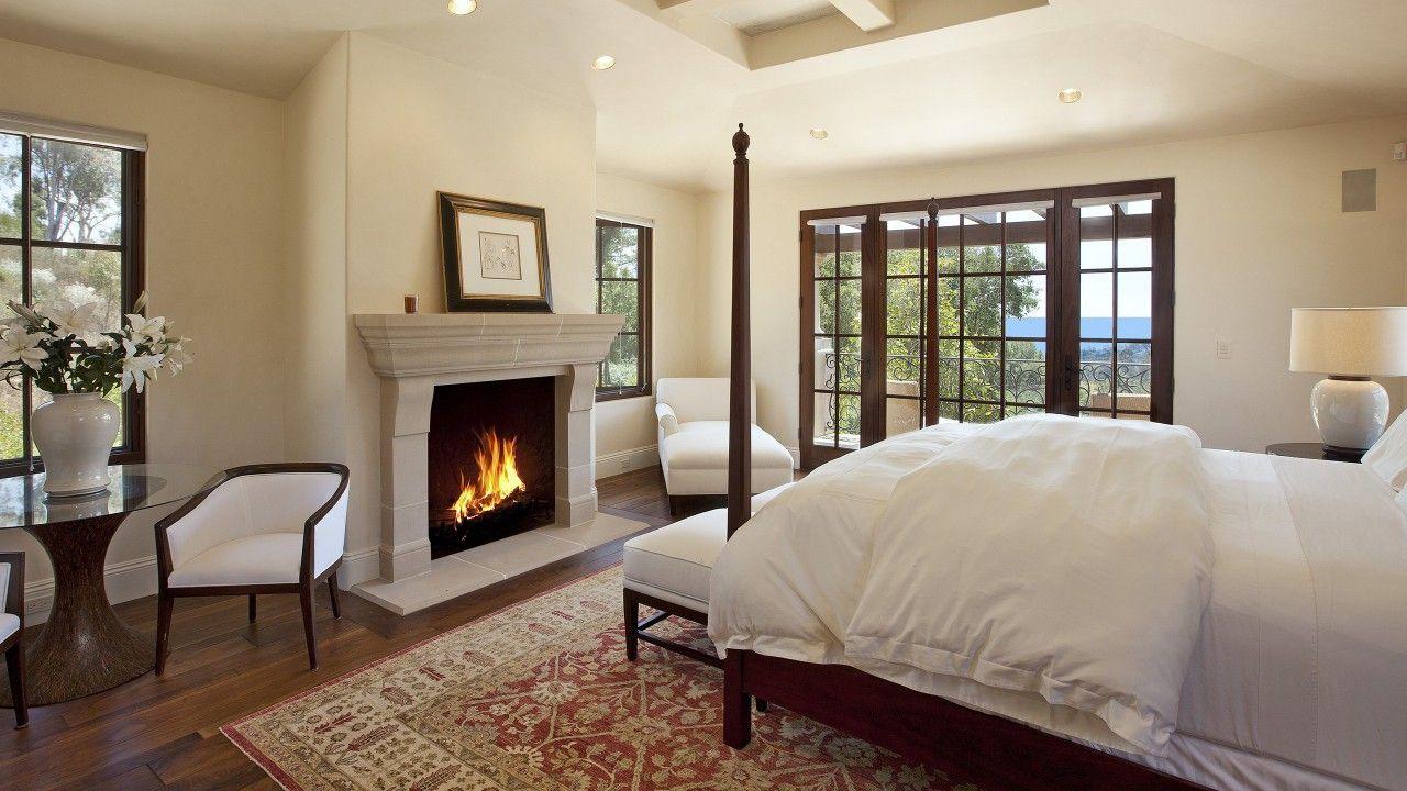 Mediterranes Schlafzimmer ~ Interieur home design haus möbel feuer flammen kamin schlafzimmer