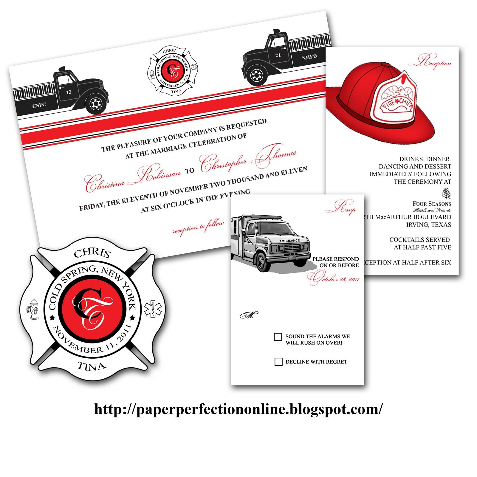 Fire Fighter Wedding Invitations | If you are looking for a unique ...