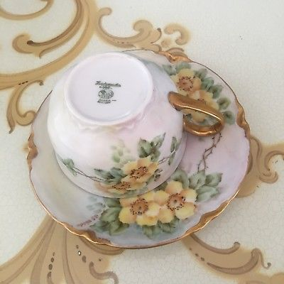 Tea Cup and Saucer Set Made in Bavaria Germany Gold Plated : bavaria gold plated tea set - pezcame.com