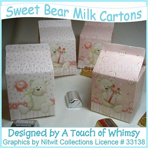 Sweet Bear Milk Cartons :: Boxes :: Printable Crafts :: Aimee Asher Boutique