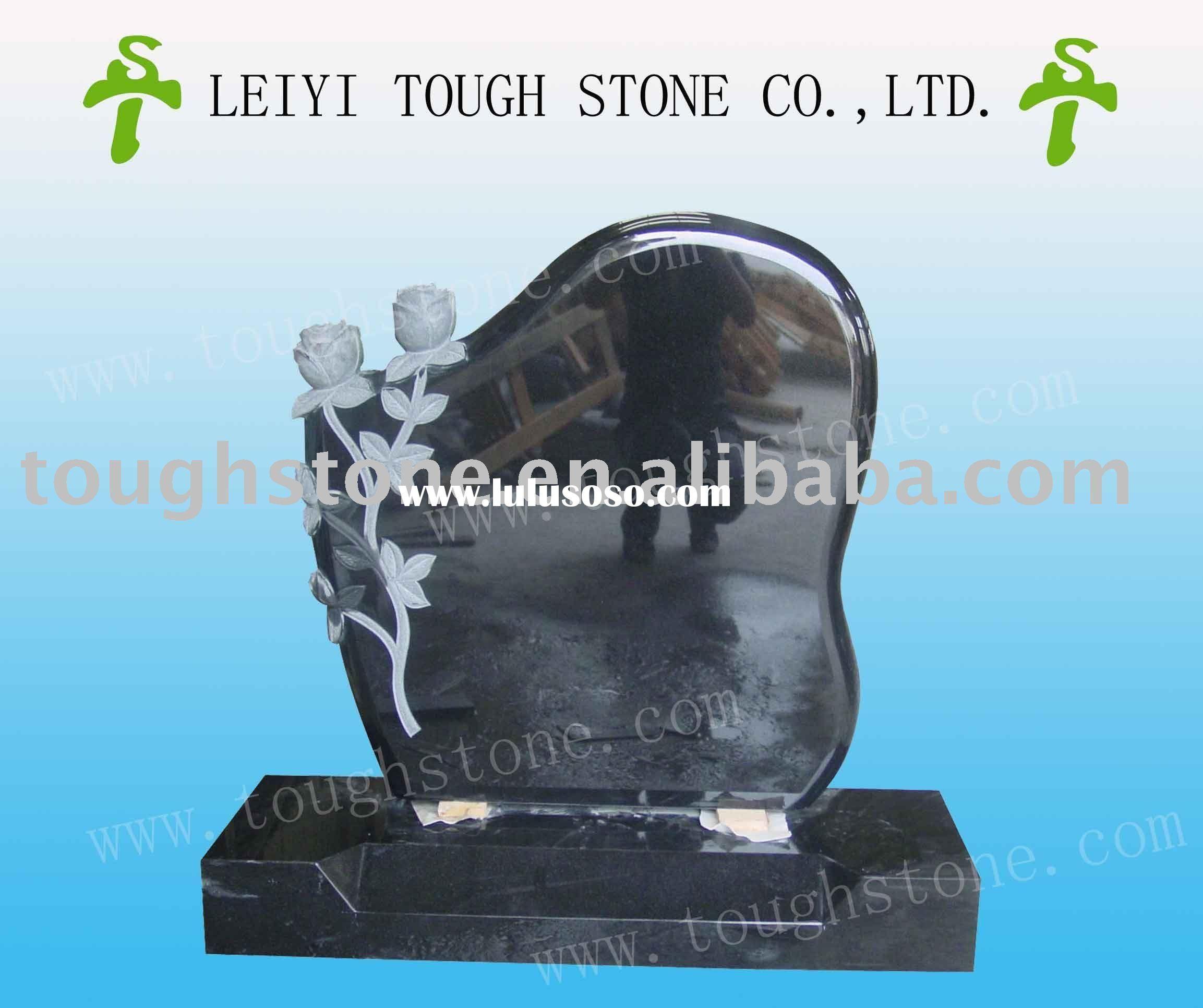 Etching designs for headstones black granite headstone