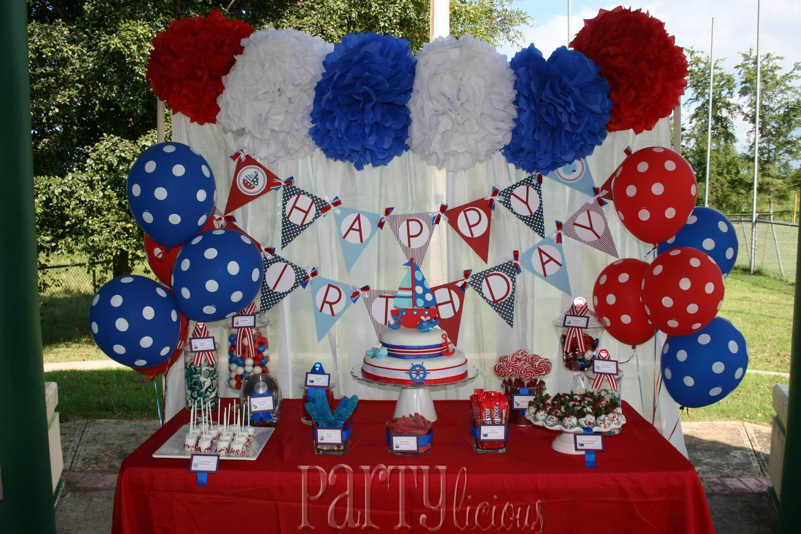 Red White Blue Nautical Candy Buffet Google Search Nautical