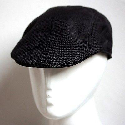 4e569ffae026c Black Men's Newsboy Flat Cabbie Beret Duckbill Conductor Golf Driving Cap  Hat