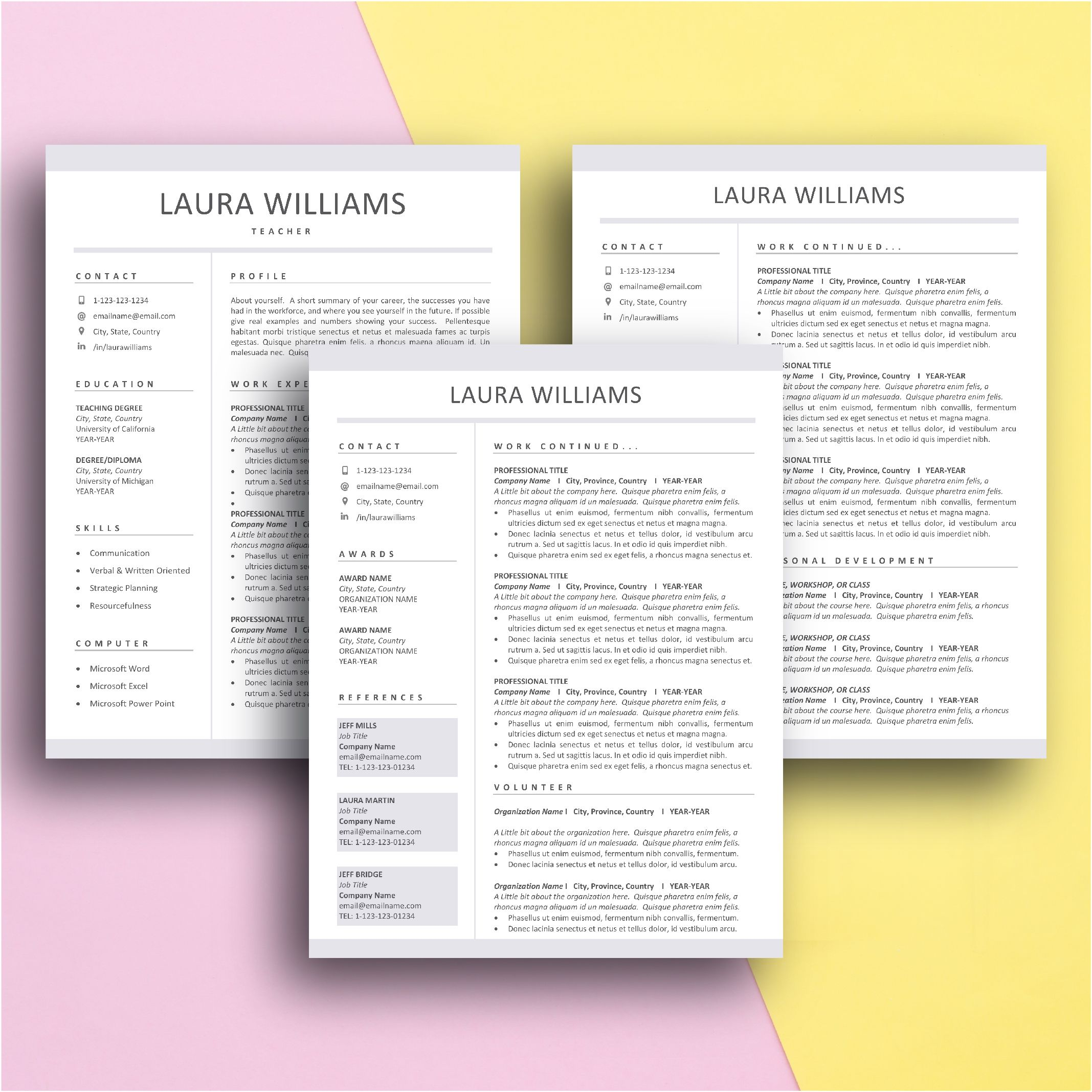 The Inspired Resume Templates Free Download Editable On