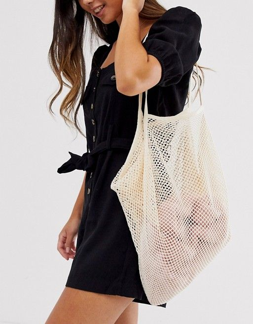 Αποτέλεσμα εικόνας για ASOS DESIGN string shopper black