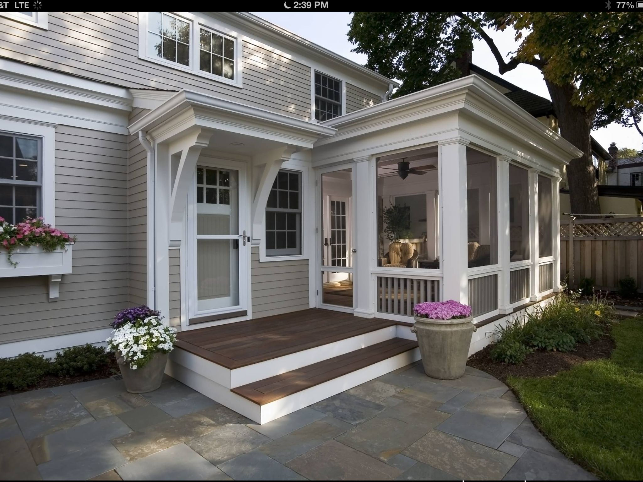 I will have a lovely 3 season porch on the next house