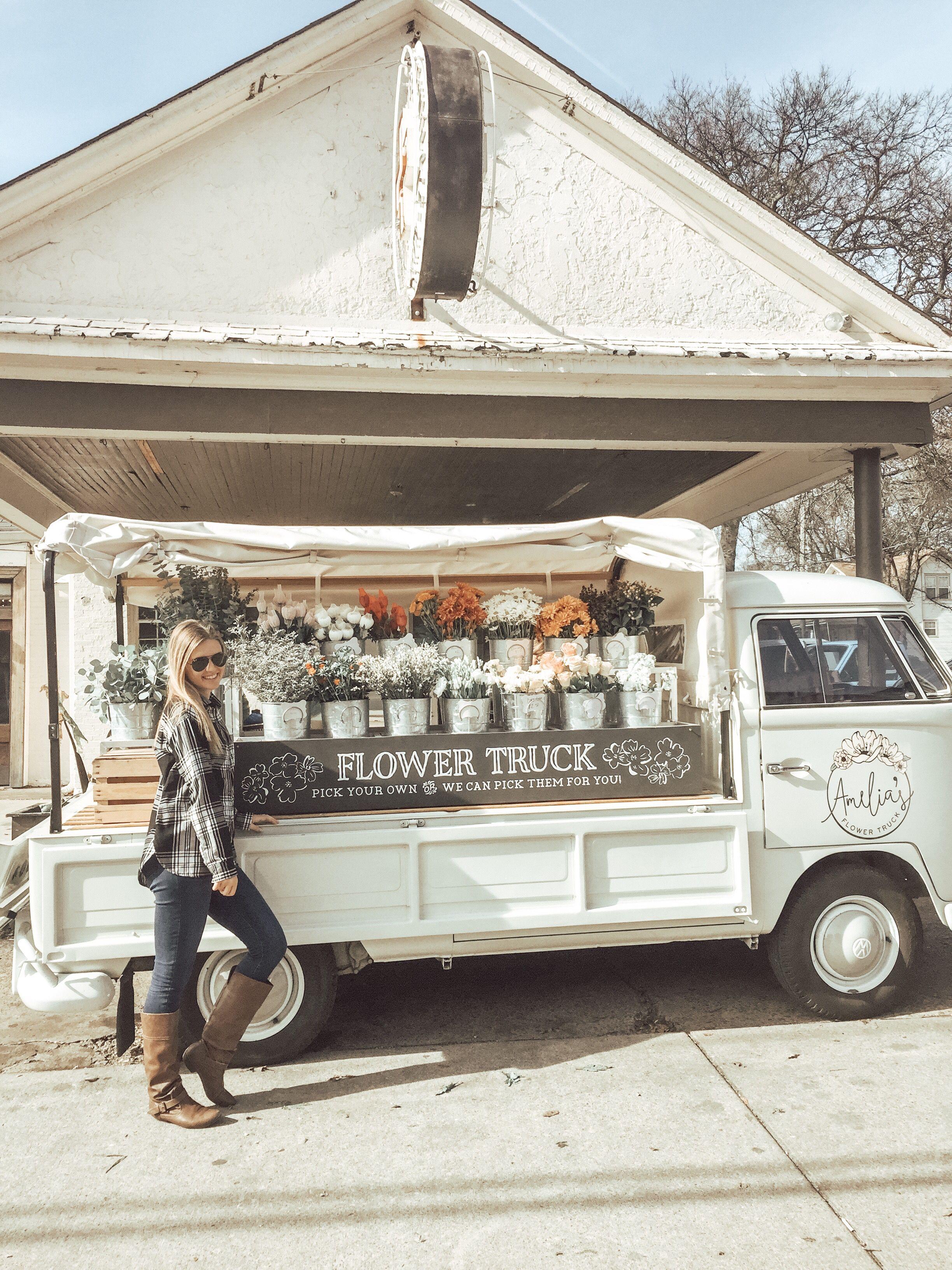 Amelias flower truck in nashville flower truck