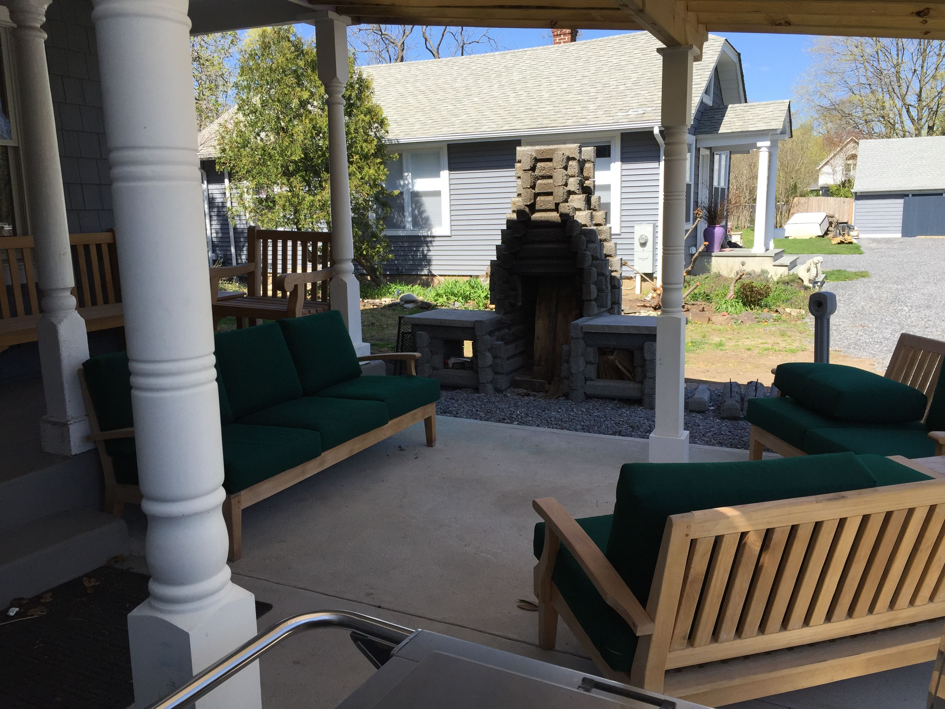 custom katahdin vermont precast outdoor fireplaces pinterest